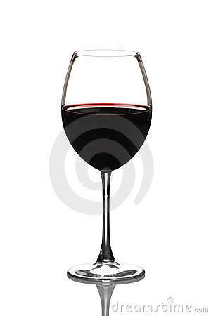 View of a red wine glass