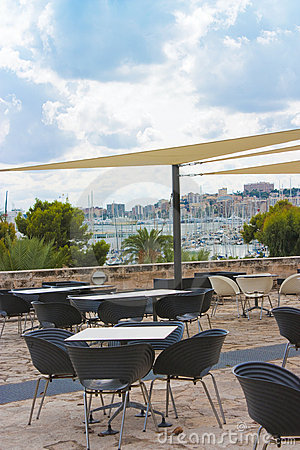 View from restaurant across palma