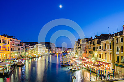 View from Rialto bridge on June 30, 201 Editorial Photography