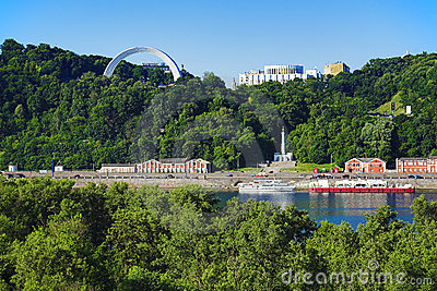 View on the right bank of the Dnieper in Kiev