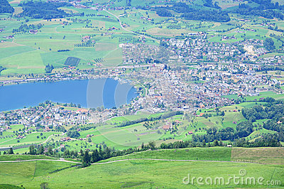 View from Rigi Kulm mountain. Switzerland.