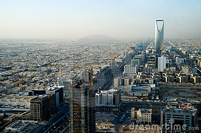 View of Riyadh and Kingdom tower