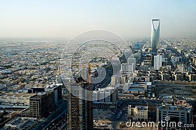 View of Riyadh and Kingdom tower