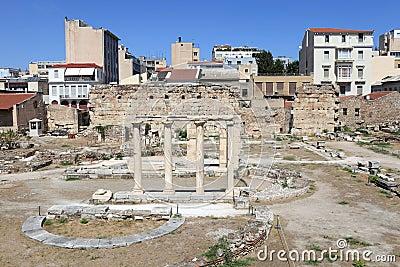 View of roman agora