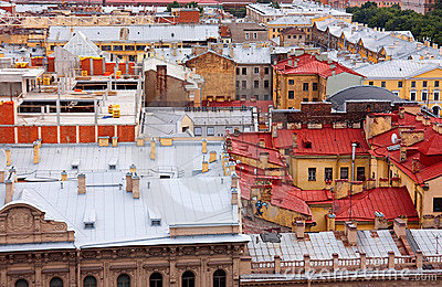 View of the roof of St. Petersburg