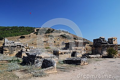 View of Ruins of Ancient Hierapolis
