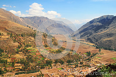 View of the Sacred valley, Peru
