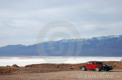 A view of salt lake in Death Valley