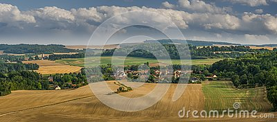 A view of san gilles town in france Stock Photo