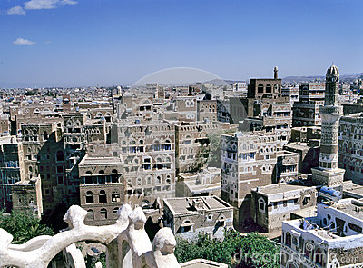 View at the capital of Yemen