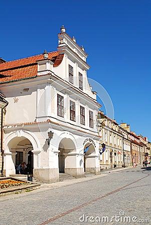 The view of Sandomierz, Poland Editorial Stock Image