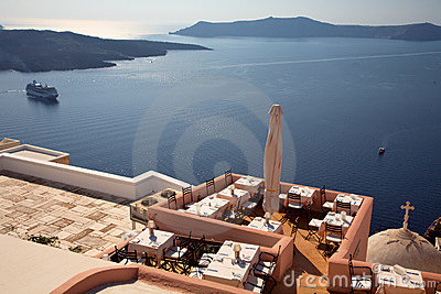 View from the Santorini island.