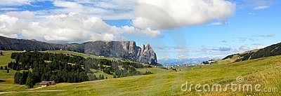 View of the Sciliar, Dolomites, Italy