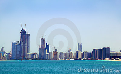 The view from the sea of the buildings