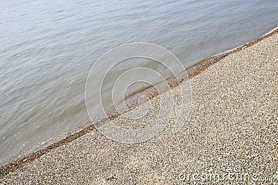 View of the Sea and shingle beach