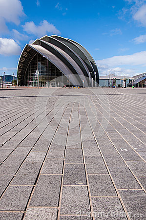 View of the SECC exhibition centre. Glasgow