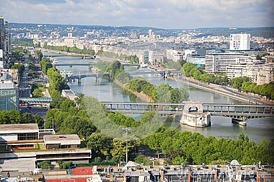 View of the Seine Editorial Stock Photo