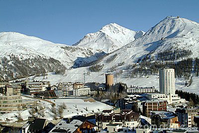 View of Sestriere - Turin - Italy