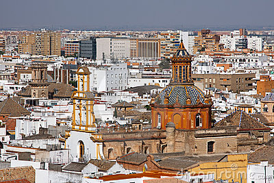 View on Seville from Cathedral, Sevilla