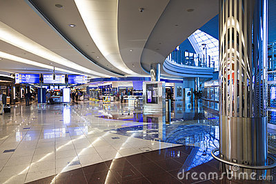 A view of a shoping center in Dubai International Editorial Photography