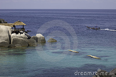 View of shores of Koh Tao island