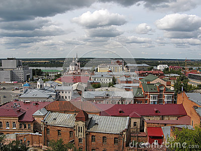 View of the Siberian city Tomsk