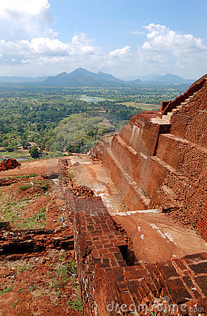 The view from Sigiriya (Lion s rock)