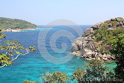 View from similian island 8
