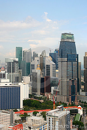 View of the Singapore city from the Skybridge Editorial Stock Photo