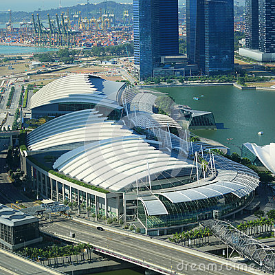 View on Singapore Flyer Editorial Stock Image
