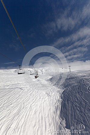 View from ski lift
