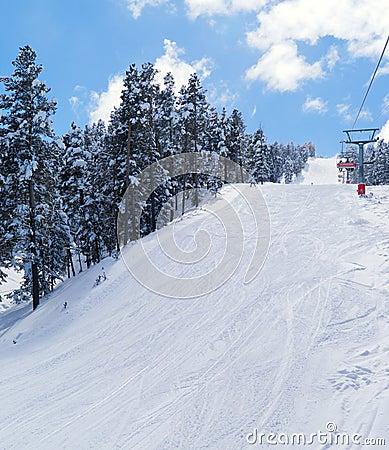 View on ski route in Sarikamis