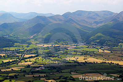 The view from Skiddaw in the Lake District