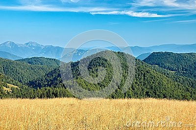 View of the Slovak mountains