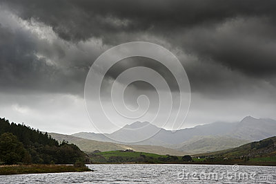 View of Snowdon from Llyn Mymbyr in Snowdonia