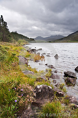 View of Snowdon from Llyn Mymbyr in Snowdonia
