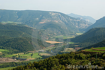 View of Spanish Pyrenees