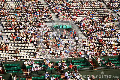 A view of the spectators at Roland Garros 2012 Editorial Stock Image