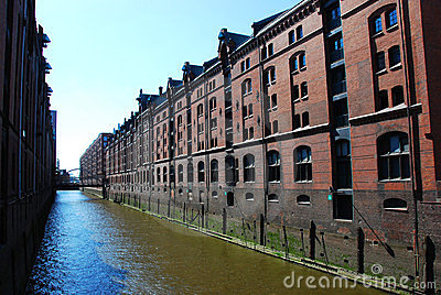 View of Speicherstadt (city of warehouses)