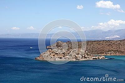 View of Spinalonga island, Crete, Greece.