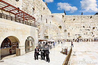View of the square in front of the Western Wall  in Jerusalem Editorial Photography