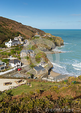 View of St Agnes Cornwall England UK