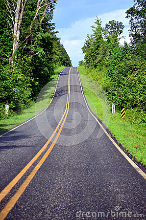 View of Steep Hill on Highway
