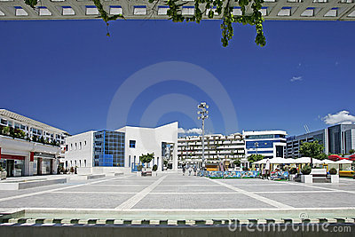 View of stunning main square in Puerto Banus, southern Spain