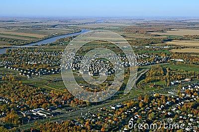 View of suburban neighborhood