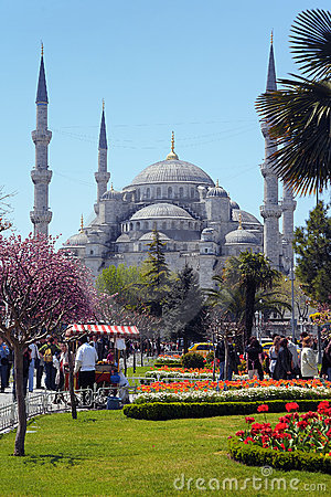 View of the Sultanahmet Mosque in Istanbul Editorial Image
