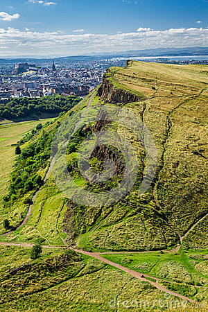 View of sunny Edinburgh