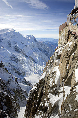 View of Swiss Alps from Mont Blanc