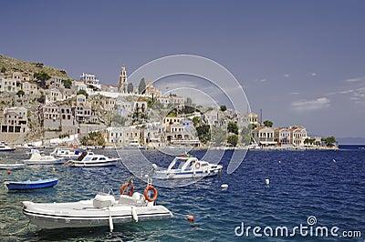 View of Symi harbor