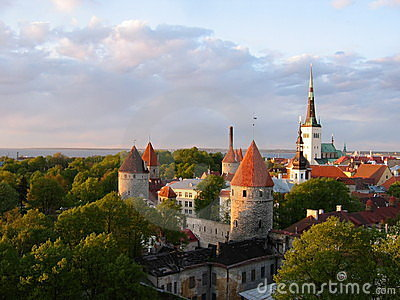 View of Tallinn Old Town